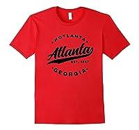 Vintage Atlanta Georgia Hotlanta Usa Love Black Shirts Red