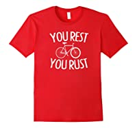 Fixie Single Speed Bicycle T Shirt Gift I Bike Fixed Gear Red