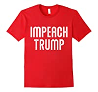 Impeach Trump Vintage T Shirt Red