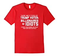 Trump Voters Are Billionaires Or Idiots Impeach T Shirt Red