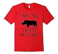 Save The Chubby Unicorns T-shirt Red
