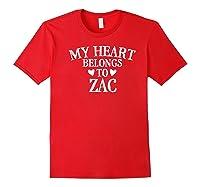 My Heart Belongs To Zac- Country Music Gift Premium T-shirt Red