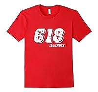 Illinois 618 Area Code Illinois Pride Shirts Red
