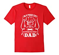 Chef Cooking Funny Culinary Chefs Dad Fathers Day Gifts Premium T Shirt Red