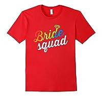 Bride Squad Shirt - Lgbt Cute Rainbow Ring Bachelorette Gift Red