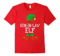 Son-in-law Elf Christmas Funny T-shirt Red