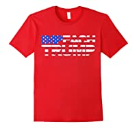 Vintage Impeach Trump American Flag Anti Trump T Shirt Red