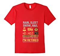 Postal Worker Retiret Gifts Funny Post Office Shirts Red