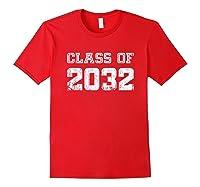 Class Of 2032 Pre K Graduate Preschool Graduation Shirts Red