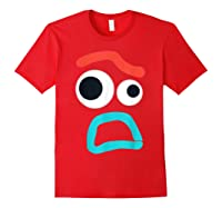 And Pixar Toy Story 4 Forky Timid Face Costume Shirts Red