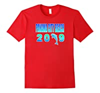 Pa City Beach Dolphin Vacation 2019 T Shirt Red