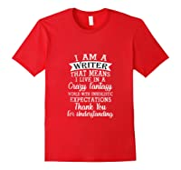 I M A Writer Gift For Authors Novelists Literature Funny Tank Top Shirts Red