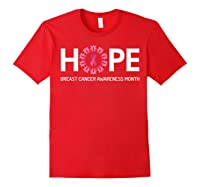 Hope Breast Cancer Awareness Month October Pink T Shirt Red