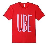 Ube Flavor Filipino Ube Philippines Dessert Gift Shirts Red