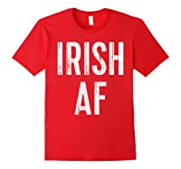 Irish Af T Shirt Vintage Saint Patrick Day Gift Shirt Red