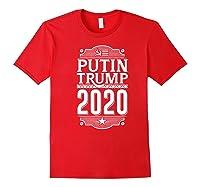 Resist Russian Putin Impeach President Putin Trump 2020 Premium T Shirt Red