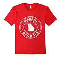 Made In Georgia Vintage State Pride Usa Shirts Red