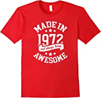 Made In 1972 49 Years Old Bday 49th Birthday Gift T-shirt Red