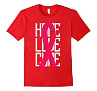 Breast Cancer Awareness Month T Shirt I Pink Ribbon Gift Red