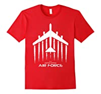 Air Force B 52 Bomber American Flag Veteran Shirts Red