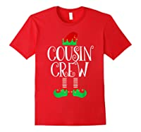 Cousin Crew Elf Gift Family Matching Christmas Ugly Shirts Red