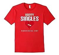 Broken Heart Band Aid Design Cute Printed Top Shirts Red