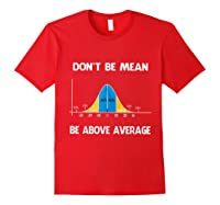 Don T Be Mean Be Above Average Funny Math Lover Gift T Shirt T Shirt Red