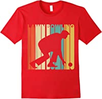 Vintage Style Lawn Bowling Silhouette T-shirt Red