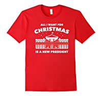Resist And Impeach President For Christmas 2020 Anti Trump Premium T Shirt Red