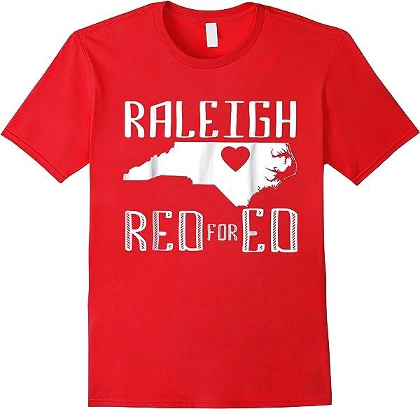 Raleigh Red For Ed North Carolina Shirt