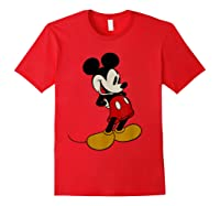 Disney Mickey Mouse Smile T Shirt Red