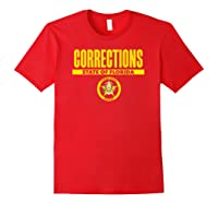 Florida Correctional Officer Thin Gray Line Flag Shirts Red