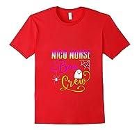 Nicu Nurse Boo Crew Halloween Ghost Spider Rn Group T-shirt Red