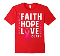 Breast Cancer Awareness Month Pink Ribbon Support Love Shirts Red