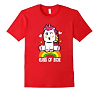 Unicorn First Day Of School Class Of 2032 Grow With Me Premium T-shirt Red