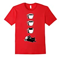 Cat In The Cup Funny Cat Lover Gifts Shirts Red
