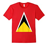 Saint Lucia Independence Day Flag Caribbean Carnival Tshirt Red