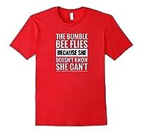 Motivational Bumble Bee Quote Raglan Baseball Ts Shirts Red