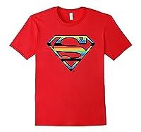 Dc Comics Superman Retro Logo Shirts Red