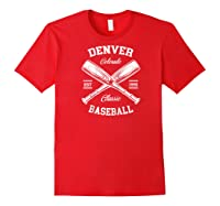 Denver Baseball, Classic Vintage Colorado Retro Fans Gift Baseball Shirts Red