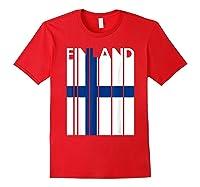 Finland Vintage Finland Flag Finnish Flag Shirts Red