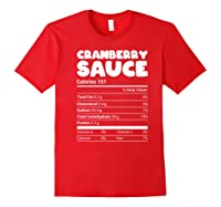 Cranberry Sauce Nutrition Funny Christmas Matching Costume Shirts Red