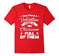 Tea Valentines Day Tshirt Funny Class School Gift Unisex Red