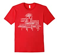 Genealogy Ancestry Word Cloud Research Your Family Shirts Red