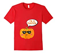 I'm A Pumpkin Costume Cosplay Fruit Halloween Shirts Red