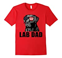 Chocolate Labrador Hashtag Lab Dad Tshirt Father Day Gifts Red