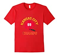 Retro Kansas City Football Helmet Vintage Kc 69 Champs Shirts Red