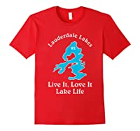 Lauderdale Lakes Wi Lake Life T-shirt Wisconsin Fans Tee Red