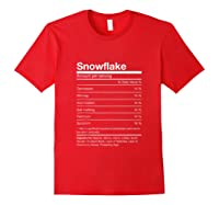 Funny Snowflake Nutrition Facts Family Christmas Parody Tank Top Shirts Red