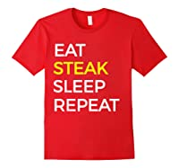 Beef Steak, Meat Bbq Gift Shirts Red